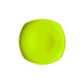 NATIVE-Q24-GN Πιάτο ρηχό κεραμικό 24x24cm, με ενισχυμένη αντοχή στο ξεφλούδισμα, πράσινο