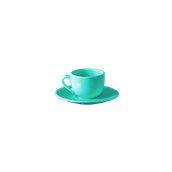 NATIVE-C100-BL Σετ φλυτζάνι καφέ 100cc με πιατάκι, κεραμικό, μπλε