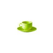 NATIVE-C100-GN Σετ φλυτζάνι καφέ 100cc με πιατάκι, κεραμικό, πράσινο