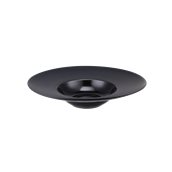 CDP006K Πιάτο Ζυμαρικών Πορσελάνης φ30x6,5cm, γυαλιστερό εσωτερικό, ματ γείσο, Σειρά CDP, μαύρο, SUNNEX
