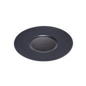 CDP004K Πιάτο Ρηχό Πορσελάνης φ30x3cm, γυαλιστερό εσωτερικό, ματ γείσο, Σειρά CDP, μαύρο, SUNNEX