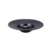 CDP016K Πιάτο Ζυμαρικών Πορσελάνης φ30x6.5cm, γυαλιστερό εσωτερικό, ανάγλυφο γείσο, Σειρά CDP, μαύρο, SUNNEX