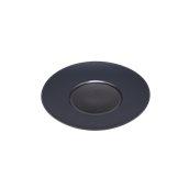 CDP003K Πιάτο Ρηχό Πορσελάνης φ25x3cm, γυαλιστερό εσωτερικό, ματ γείσο, Σειρά CDP, μαύρο, SUNNEX