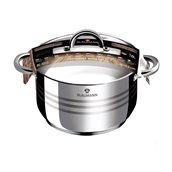 BL-1022 Ανοξείδωτη κατσαρόλα 26cm, με καπάκι γυάλινο, σειρά Gourmet Line, Blaumann