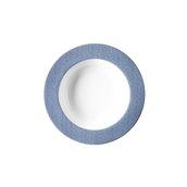 """JEANS-BL-DP-23 Πιάτο Βαθύ 23cm, πορσελάνης, σειρά μπλε """"Blue Jean"""", VAN KOTTLER"""