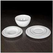 VEGA-W-SET-20 Σετ 20 πιάτων πορσελάνης, σειρά VEGA White, VAN KOTTLER Europe