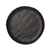 VU022330779 Πιατέλα Στρογγυλή Πορσελάνης Φ33cm, Σειρά VULCANIA, μαύρο, TOGNANA
