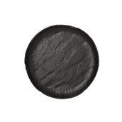 VU000260779 Πιάτο Ρηχό Πορσελάνης Φ25cm, Σειρά VULCANIA, μαύρο, TOGNANA