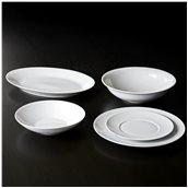 QUEBEC-W-SET-20 Σετ 20 πιάτων πορσελάνης, σειρά Quebec White, VAN KOTTLER Europe