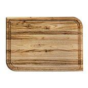 KS-020178 Ξύλινο πλατό με Λούκι, από ξύλο Καστανιάς, 38 x 27 cm