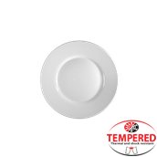 L-460550 Πιάτο Οπαλίνης Ρηχό 20cm, Λευκό, Tempered, CoK Spain