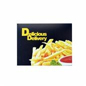 278.01.0000 Κουτί Ψητοπωλείου μεταλιζέ, με σχέδιο Πατάτες, Μαύρο, μονής μερίδας, 13x10x5cm