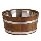 3055443629 Ξύλινο βαρέλι με εσωτερικό INOX 18/10 Δοχείο, φ40cm, BROGGI