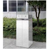 PANORA/WHITE Εστία Βιοαιθανόλης 40x40x128cm,  Άσπρη