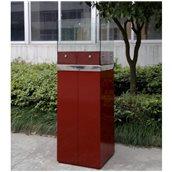 PANORA/RED Εστία Βιοαιθανόλης 40x40x128cm,  Κόκκινη