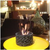 FIRESTONE/BLACK Εστία Βιοαιθανόλης 18.5x18.5x22cm,  Μαύρη