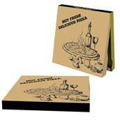 40x40x4.2 /DELICIOUS Κουτί Πίτσας Μικροβέλε FRESH DELICIOUS, Kraft, 40x40x4.2cm
