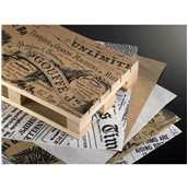 H6315 Πακέτο 500 τμχ. Χαρτί Αφής, με σχέδιο VINTAGE καφέ, 15x40cm, Leone
