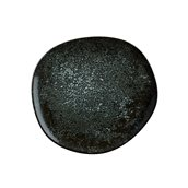 COSBLVAO29DZ Πιάτο Ρηχό πορσελάνης, ακανόνιστο σχήμα, 29cm, Cosmos Black, BONNA