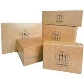 271.03.0000 Κουτί Ψητοπωλείου μεταλιζέ, με σχέδιο Κραφτ, 21x14x5.5cm