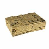 025.17.000 Κουτί Ψητοπωλείου, Αυτόματο 4 σημείων, Κραφτ με σχέδιο, 21x14x5cm