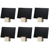 TAG-HLD-TE Σετ 6 ξύλινες βάσεις ετικετών A7 χρώμα Teak, 2.5x2.5x2.5cm