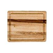 KS-020171 Ξύλινο πλατό με Λούκι, από ξύλο Καστανιάς, Ορθογώνιο, 30 x 25 cm