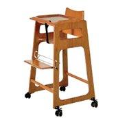 BBK-214 Παιδικό Καρεκλάκι ξύλινο, με ρόδες και φρένο, 68x55x130cm, Evinoks