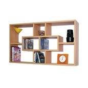 P.285818 Ραφιέρα τοίχου ξύλινη, 85x14.5x47.5cm