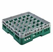 AMB-36/GREEN Μπασκέτα Πλυντηρίου (κλειστού τύπου), 36 χωρίσματα, 50x50x14.3cm, πράσινη, AMER-BOX