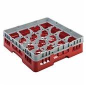 AMB-16/RED Μπασκέτα Πλυντηρίου (κλειστού τύπου), 16 χωρίσματα, 50x50x14.3cm, κόκκινη, AMER-BOX