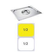 812-L Καπάκι δοχείου γαστρονομίας ανοξείδωτο SS201, 0.7mm, GN1/2 (32.5x26.5cm)