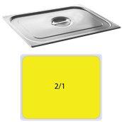 821-L Καπάκι δοχείου γαστρονομίας ανοξείδωτο SS201, 0.8mm, GN2/1 (65x53cm)
