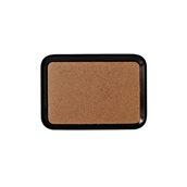 COR370530C-TEX Πλαστικός δίσκος σερβιρίσματος με φελλό, 37x53cm, μαύρος ματ