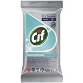 CIF-101102238 Πακέτο 100 μαντηλάκια με καθαριστικό γενικής χρήσης, άρωμα φρεσκάδας, Cif