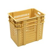 G180623 Καλάθι αποθήκευσης ψωμιού 120Lt (45x64x55.5cm), κίτρινο, Gilac