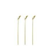 TMX-B102-12 Πακέτο 100τμχ Ξύλινα Sticks 12cm Bamboo με κόμπο στην μία άκρη