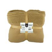 BFWK-BR Κουβέρτα καναπέ, 150gsm fleece με 10cm sherpa+210gsm sherpa, 130x170cm, καφέ