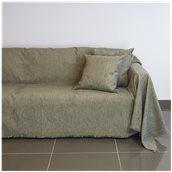 18C01GR3 Ριχτάρι τριθέσιου καναπέ 300x180cm, ακρυλικό σενίλ, γκρι, ελληνικής κατασκευής