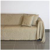 21C02BG2 Ριχτάρι διθέσιου καναπέ 250x180cm, ακρυλικό σενίλ, μπεζ, ελληνικής κατασκευής