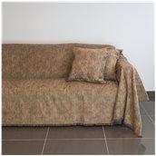 21C01BR2 Ριχτάρι διθέσιου καναπέ 250x180cm, ακρυλικό σενίλ, καφέ, ελληνικής κατασκευής