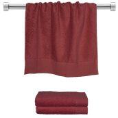 TWPR-50100-BD Πετσέτα προσώπου μπορντώ 50x100 cm, Σειρά Premium , 600gr/m², Πενιέ, Fennel