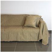 18C01BR3 Ριχτάρι τριθέσιου καναπέ 300x180cm, ακρυλικό σενίλ, καφέ, ελληνικής κατασκευής