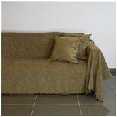 21C02BR3 Ριχτάρι τριθέσιου καναπέ 300x180cm, ακρυλικό σενίλ, καφέ, ελληνικής κατασκευής