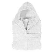 BRHC-XL-WH Μπουρνούζι με κουκούλα, XL, Λευκό, Σειρά Comfort, 420gr/m², Πενιέ, Fennel