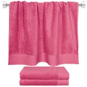 TWPR-80150-FX Πετσέτα μπάνιου φούξια 80x150 cm, Σειρά Premium , 600gr/m², Πενιέ, Fennel