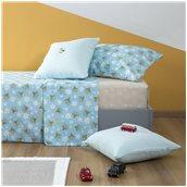 ZOU-BD-012 Σετ Παιδικά Σεντόνια 160x260cm & Μαξιλαροθήκη 50x70cm, 100% βαμβάκι, 200 κλωστές, Μέλισσα