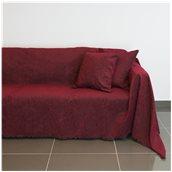 21C02BD3 Ριχτάρι τριθέσιου καναπέ 300x180cm, ακρυλικό σενίλ, μπορντώ, ελληνικής κατασκευής