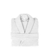 BRCC-XL-WH Μπουρνούζι με γιακά, XL, Λευκό, Σειρά Comfort, 420gr/m², Πενιέ, Fennel