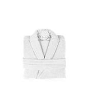 BRCC-S-WH Μπουρνούζι με γιακά, Small, Λευκό, Σειρά Comfort, 420gr/m², Πενιέ, Fennel
